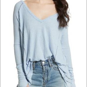 Free People We The Free Latina Thermal Light Blue